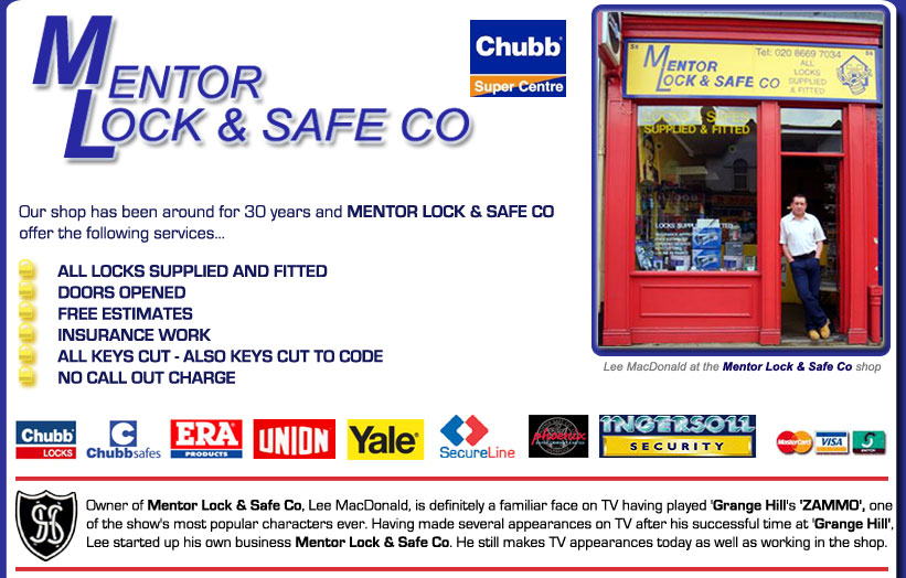 Our shop has been around for 30 years and Mentor Lock and Safe co offer the following services,all locks supplied and fitted, doors opened,free estimates,insurance work,all keys cut, also keys cut to code,no call out charge
